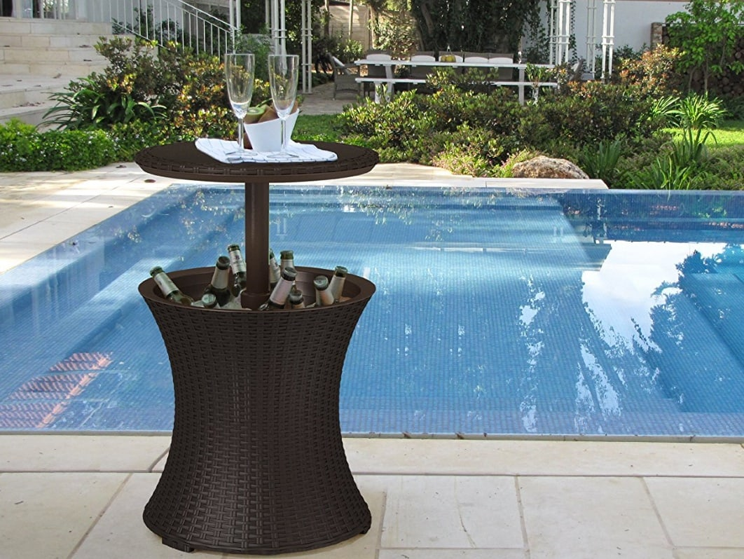 Cooler Tables for outdoor use by the pool or on the patio