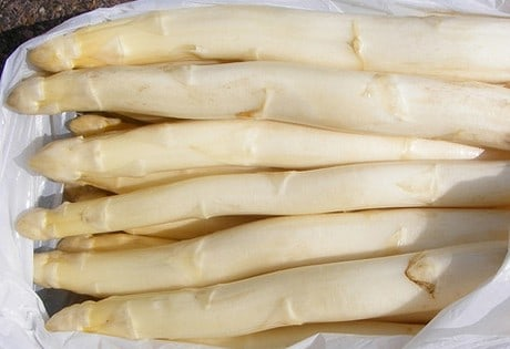 White Asapragus, Spargel is very popuular in Germnay.
